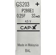 GS203F Cap-XX ultracapacitor