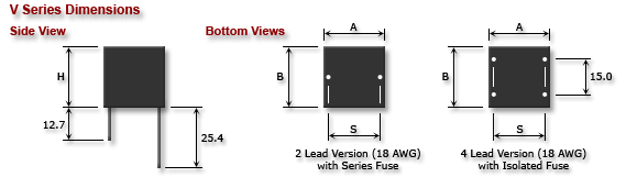 V Series dimentions